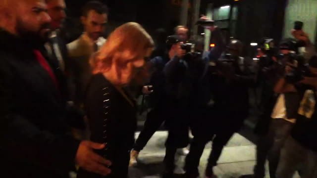 Jessica Chastain leaves restaurant in West Hollywood