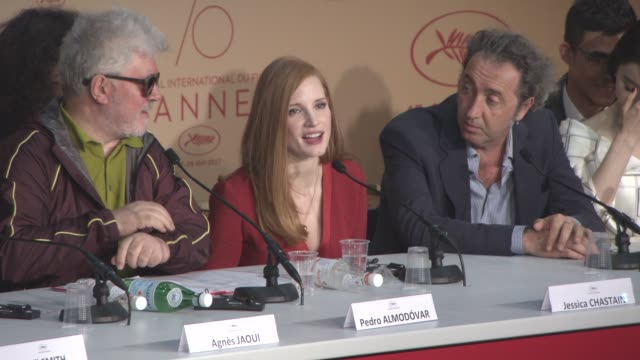 INTERVIEW Jessica Chastain on being on the red carpet at Jury Press Conference on May 17 2017 in Cannes France