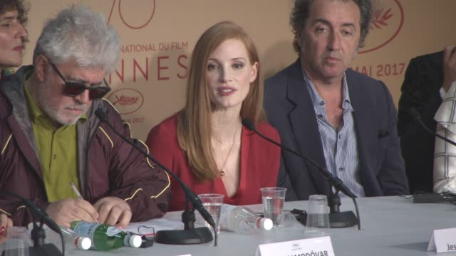 INTERVIEW Jessica Chastain on being open minded about each film at Jury Press Conference on May 17 2017 in Cannes France