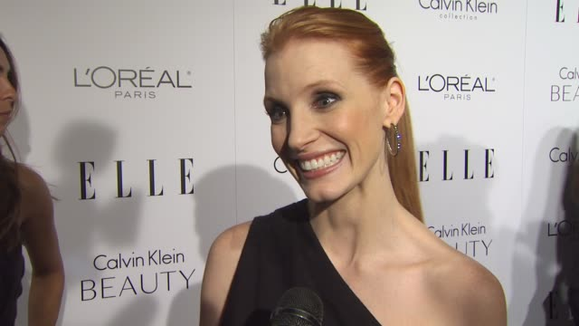 Jessica Chastain on the event at the ELLE Magazine's 17th Annual Women in Hollywood Celebration at Beverly Hills CA