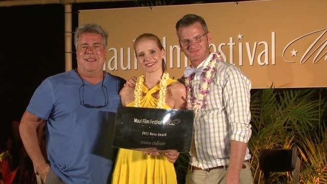 BROLL Jessica Chastain receives 2013 Maui Film Festival NOVA Award at the 2013 Maui Film Festival at Wailea BROLL Jessica Chastain receives 2013 Maui...