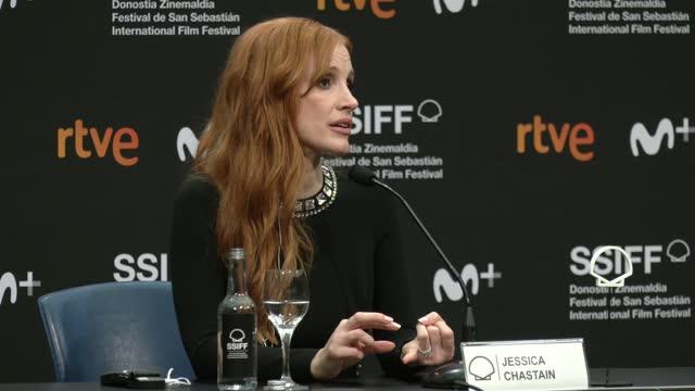 "ESP: ""The Eyes of Tammy Faye/ Los Ojos De Tammy Faye"" Press Conference - 69th San Sebastian Film Festival"