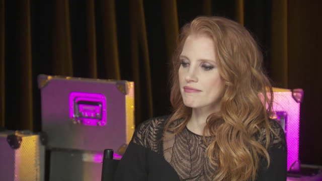 jessica chastain says that presenting for the chime for change benefit concert, which is to promote women's rights around the world, is most... - human rights or social issues or immigration or employment and labor or protest or riot or lgbtqi rights or women's rights stock videos & royalty-free footage