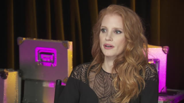 jessica chastain says that the chime for change benefit event, which promotes women's rights, is about empowering people. - human rights or social issues or immigration or employment and labor or protest or riot or lgbtqi rights or women's rights stock videos & royalty-free footage