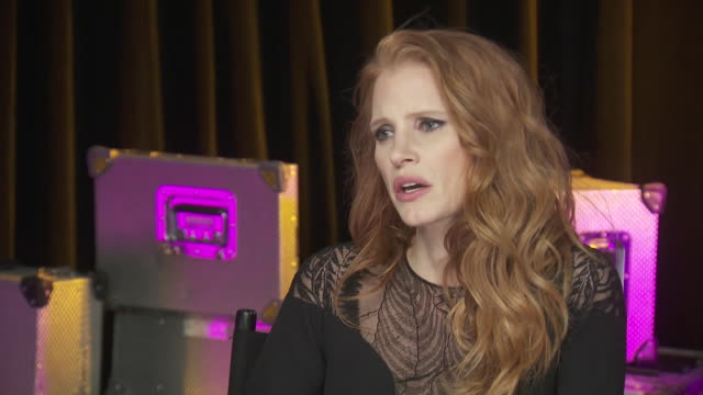jessica chastain talks about gender inequality that exists around the world while backstage at the chime for change benefit concert that promotes... - human rights or social issues or immigration or employment and labor or protest or riot or lgbtqi rights or women's rights stock videos & royalty-free footage