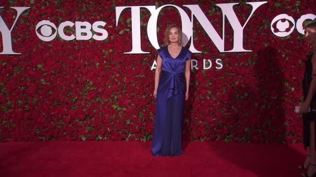 jessica lange at 2016 tony awards red carpet at the beacon theatre on june 12 2016 in new york city - 70th annual tony awards stock videos and b-roll footage