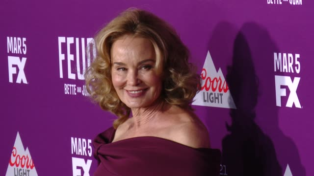 """jessica lange at premiere of fx network's """"feud: bette and joan"""" in los angeles, ca 3/1/17 - fx network stock videos & royalty-free footage"""