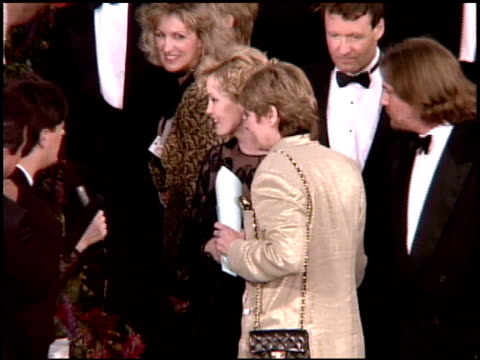 jessica lange at the 1995 academy awards arrivals at the shrine auditorium in los angeles, california on march 27, 1995. - 67th annual academy awards stock videos & royalty-free footage