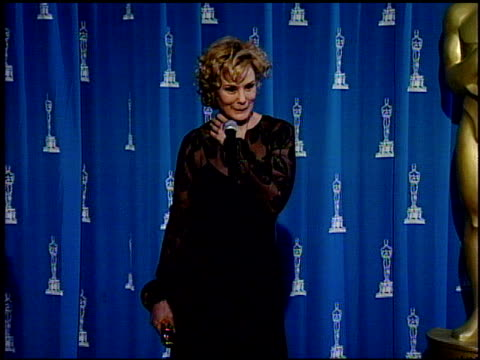 jessica lange at the 1995 academy awards at the shrine auditorium in los angeles california on march 27 1995 - 67th annual academy awards stock videos & royalty-free footage
