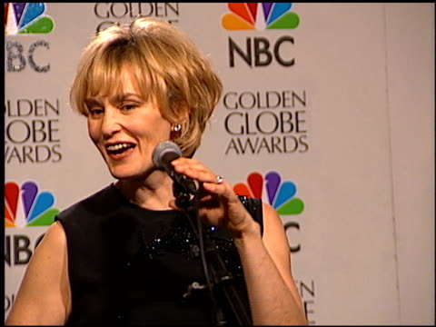 vídeos de stock, filmes e b-roll de jessica lange at the 1996 golden globe awards at the beverly hilton in beverly hills california on january 21 1996 - 1996