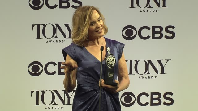 interview jessica lange talks about revisiting her favorite role she ever played at 2016 tony awards press room at the beacon theatre on june 12 2016... - 70th annual tony awards stock videos and b-roll footage