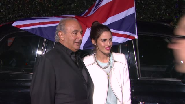Jessica Lowndes and Philip Green at Topshop Topman LA Opening Party At Cecconi's on 2/13/2013 in Los Angeles CA