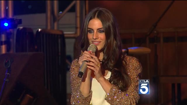 Jessica Lowndes at the Holiday Tree Lighting At LA Live Opening Of The LA Kings Holiday Ice at Los Angeles CA