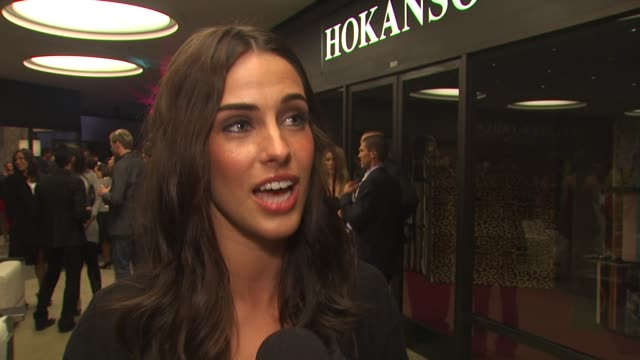 Jessica Lowndes on AI/DWTS and what's to expect on 90210 at the Chagoury Couture By Gilbert Chagoury Fashion Show at West Hollywood CA