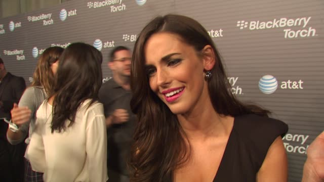 Jessica Lowndes on how long she's been a Blackberry fan her favorite thing about the new Blackberry Torch why she wanted to come out and be a part of...