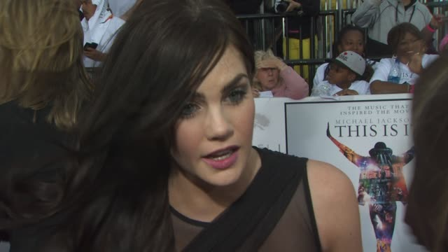 Jessica Lowndes on the event and film at the 'Michael Jackson's This Is It' Premiere at Los Angeles CA