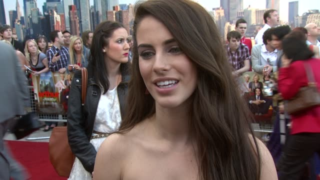 Jessica Lowndes on the original on the remake on loving Russell Brand on 90210 scripts on London at the Arthur European Premiere at London England