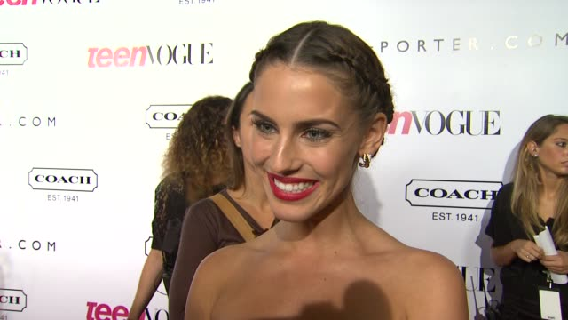Jessica Lowndes on what she's looking forward to tonight and on what she's working on