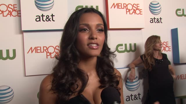 jessica lucas on her character how she will probably turn evil on the show and how they are reworking the old with the new at the 'melrose place'... - soap opera stock videos & royalty-free footage