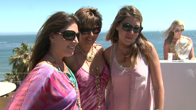 jessica meisels lisa rinna dani stahl at the malibu clambake honoring the lia sophia jewelry collection cape town iii at malibu ca - stahl stock videos & royalty-free footage