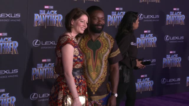 Jessica Oyelowo and David Oyelowo at the Marvel Studios' 'Black Panther' World Premiere at Dolby Theatre on January 29 2018 in Hollywood California