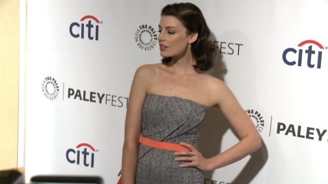 """jessica pare at the """"mad men"""" panel - paleyfest 2014 at dolby theatre on march 21, 2014 in hollywood, california. - the dolby theatre stock videos & royalty-free footage"""