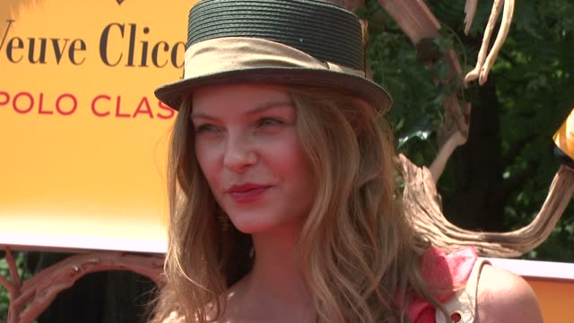 jessica perez at the fifth annual veuve clicquot polo classic at liberty state park on june 02 2012 in jersey city new jersey - 動物を使うスポーツ点の映像素材/bロール