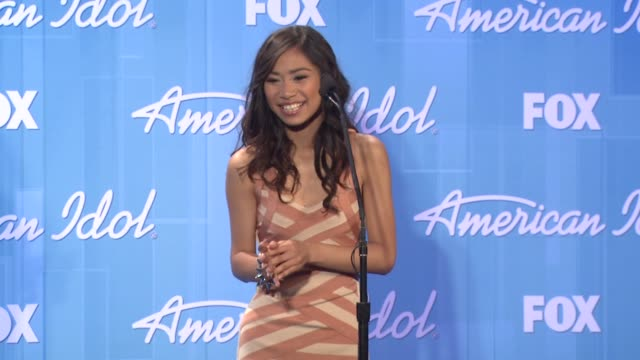 jessica sanchez at american idol season 11 grand finale show photo room on 5/23/12 in los angeles ca - jessica sanchez stock videos and b-roll footage