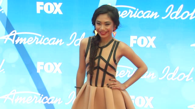 jessica sanchez at american idol season 12 finale 5/16/2013 in los angeles ca - jessica sanchez stock videos and b-roll footage