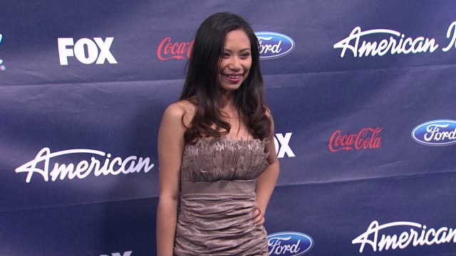 jessica sanchez at meet the american idol judges finalists on 3/1/2012 in los angeles ca - jessica sanchez stock videos and b-roll footage