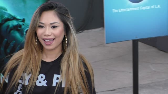 jessica sanchez at the opening of halloween horror nights 2015 at universal studios hollywood at celebrity sightings in los angeles on september 18... - jessica sanchez stock videos and b-roll footage