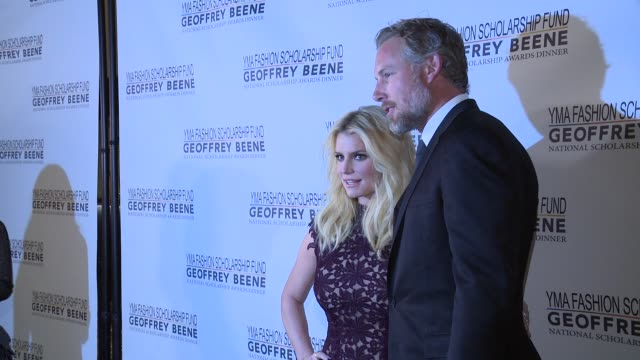jessica simpson and eric johnson at 2016 yma fashion scholarship fund geoffrey beene national scholarship awards dinner at marriott marquis times... - jessica simpson stock videos & royalty-free footage
