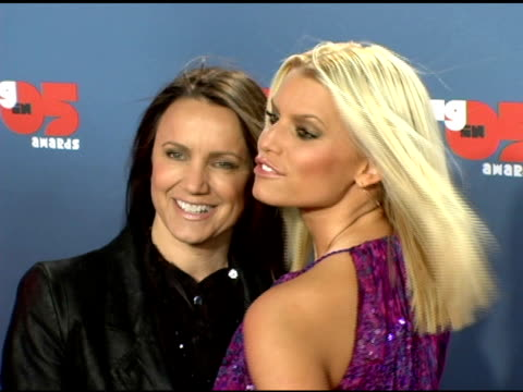 jessica simpson and mother tina simpson at the vh1 big in '05 at sony studios in los angeles, california on december 3, 2005. - jessica simpson stock videos & royalty-free footage