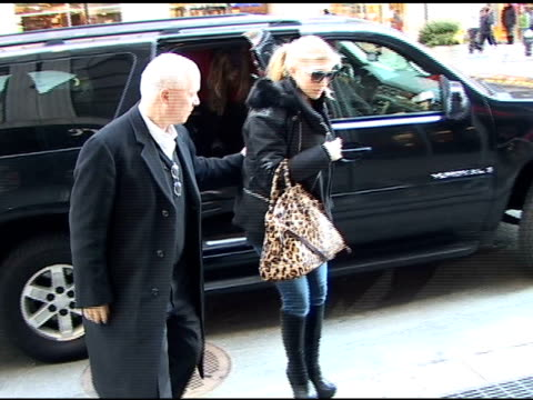 jessica simpson arrives at the garment center 01/05/11 at the celebrity sightings in new york at new york ny. - jessica simpson stock videos & royalty-free footage