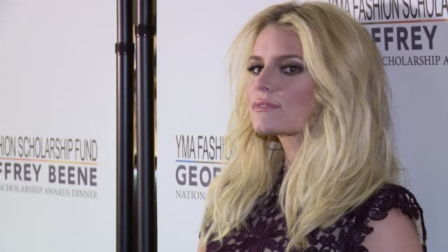 jessica simpson at 2016 yma fashion scholarship fund geoffrey beene national scholarship awards dinner at marriott marquis times square on january... - jessica simpson stock videos & royalty-free footage