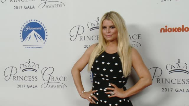 jessica simpson at 2017 princess grace awards kick-off event in los angeles, ca 10/24/17 - jessica simpson stock videos & royalty-free footage