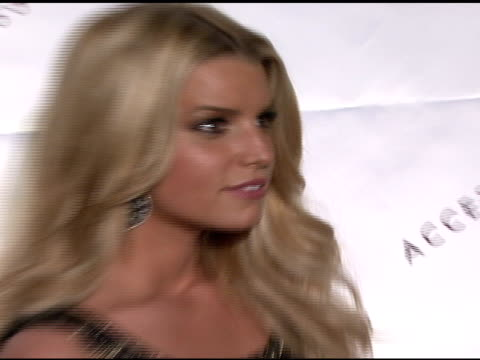 jessica simpson at the 11th annual ace awards at cipriani in new york, new york on november 5, 2007. - マンハッタン チプリアーニ点の映像素材/bロール