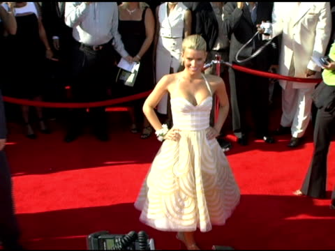 jessica simpson at the 13th annual espy awards arrivals at the kodak theatre in hollywood, california on july 13, 2005. - jessica simpson stock videos & royalty-free footage