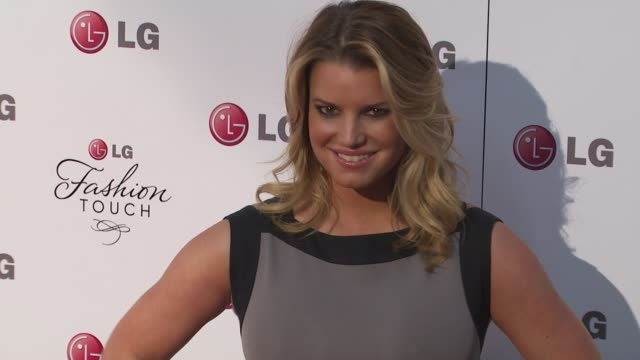 jessica simpson at the a night of fashion and technology with lg mobile phones at west hollywood ca. - jessica simpson stock videos & royalty-free footage
