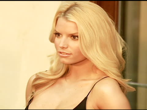jessica simpson at the chrysalis' fifth annual butterfly ball at private residence in bel air, california on june 10, 2006. - jessica simpson stock videos & royalty-free footage
