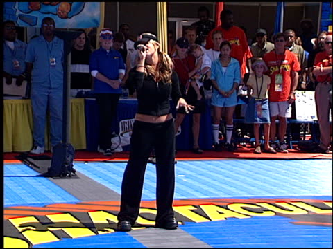 jessica simpson at the shaqtacular at universal studios in universal city, california on september 15, 2001. - jessica simpson stock videos & royalty-free footage