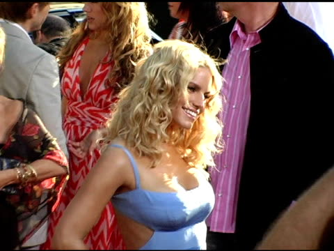 jessica simpson at the 'the dukes of hazzard' los angeles premiere at grauman's chinese theatre in hollywood, california on july 28, 2005. - jessica simpson stock videos & royalty-free footage