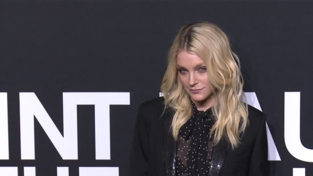 jessica stam at saint laurent event at hollywood palladium on february 10 2016 in los angeles california - hollywood palladium stock videos & royalty-free footage