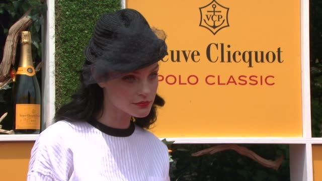 jessica stam at the fifth annual veuve clicquot polo classic at liberty state park on june 02 2012 in jersey city new jersey - 動物を使うスポーツ点の映像素材/bロール