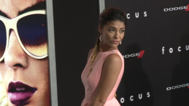 jessica szohr at the focus los angeles premiere at tcl chinese theatre on february 24 2015 in hollywood california - tcl chinese theatre stock videos & royalty-free footage