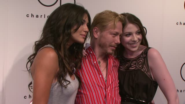 jessica szohr, eric daman and michelle trachtenberg at the charlotte russe fall 2009 launch event at new york ny. - michelle trachtenberg stock videos & royalty-free footage
