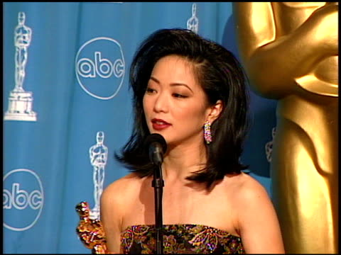 Jessica Yu at the 1997 Academy Awards Governor's Ball at the Shrine Auditorium in Los Angeles California on March 24 1997