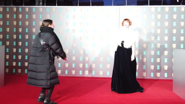 jessie buckley attends the ee british academy film awards 2020 at royal albert hall on february 02 2020 in london england - british academy film awards stock videos & royalty-free footage