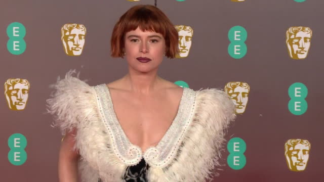 jessie buckley on red carpet at bafta film awards 2020 - formal stock videos & royalty-free footage