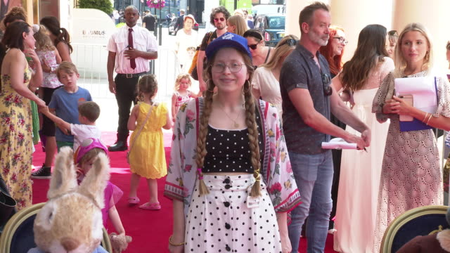 jessie cave at where is peter rabbit? press day at theatre royal haymarket on july 23, 2019 in london, england. - theatre royal haymarket stock videos & royalty-free footage